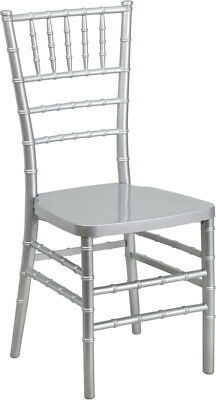 Silver Resin Chiavari Chair - Commercial Quality Stackable Wedding Chair