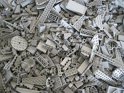 Lego 100+ Light Grey Pieces (New) From Bulk Sorted Lot Random Selection!
