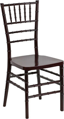 Mahogany Resin Chiavari Chair - Commercial Quality Stackable Wedding Chair