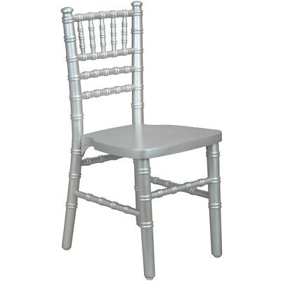 Kids Size Silver Wood Stackable Chiavari Chair