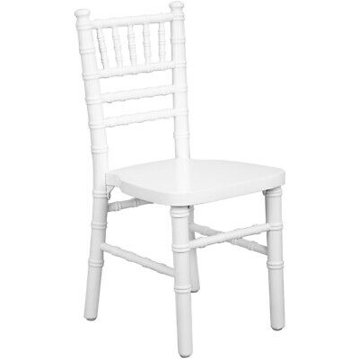 Kids Size White Wood Stackable Chiavari Chair