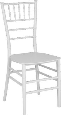 White Resin Chiavari Chair - Commercial Quality Stackable Wedding Venue Chair