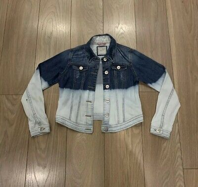 Girls Blue / White 2-Tone Age 13-14 Years NEXT Denim Jacket