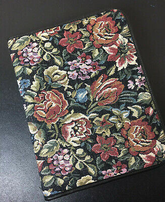 Day Planner 3 Ring Binder Avery Power Case Vintage Floral Tapestry Black Leather