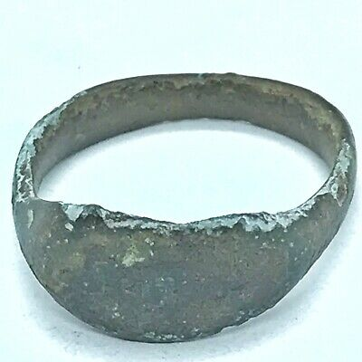 Ancient Roman Or Byzantine Ring Europe Metal Detector Find Artifact Antique A