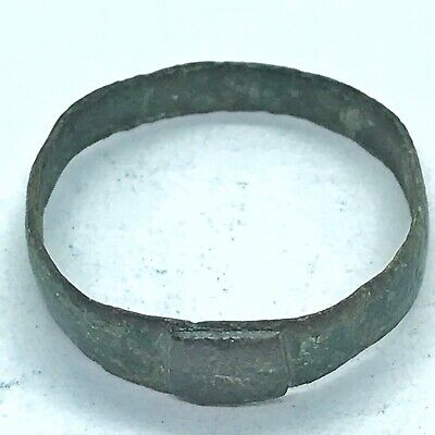 Ancient Roman Or Byzantine Ring Europe Metal Detector Find Artifact Antique B