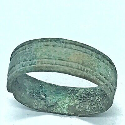Ancient Roman Or Byzantine Ring Europe Metal Detector Find Artifact Antique D