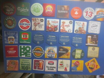 36 different AUSTRALIAN Brewery Issue, BEER & CIDER COASTERS collectable H