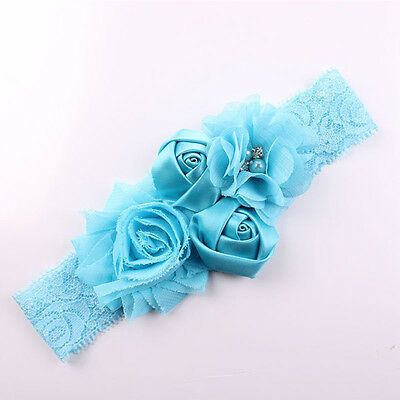 1pcs Soft Baby Headwrap Flower Headband for Baby Girl Beauty Hair Band