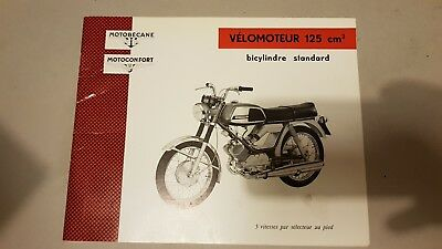Motobecane 125 bicilindrico 1971 catalogo ricambi originale parts catalogue