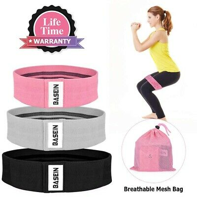 3 Pack Fabric Hip Resistance Bands, Booty Bands for Women Workout Loop Exercise