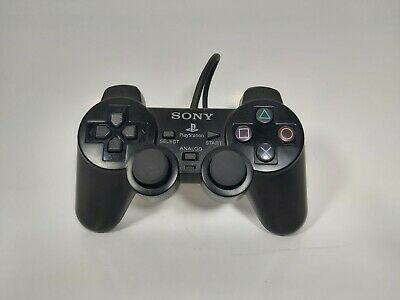 Official Sony PlayStation 2 PS2 Black Dualshock 2 Controller Original SCPH-10010
