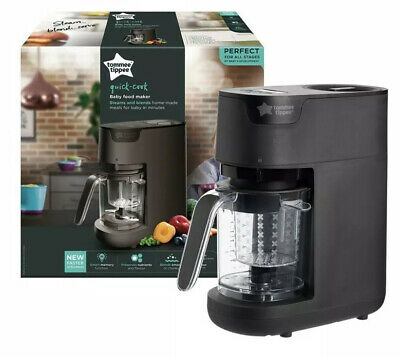 Tommee Tippee Quick Cook Baby Food Blender (black) Brand New In Box