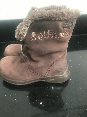 Girls Clarks Boots Size 6F Gore -Tex