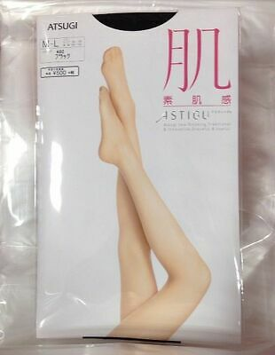 Astigu Pantyhose Stocking Tights Black color M-L size 1pairs Atsugi from Japan