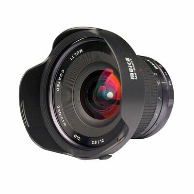 Meike 12mm 1:2,8 Mft Ultra Wide Angle Lens for Olympus Panasonic + 72mm