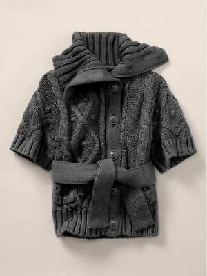 NWT Girls Stella McCartney for Baby Gap Kids Cable Knit Cardigan Sweater Size 4