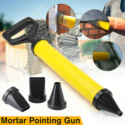 Mortar Gun Brick Pointing Grouting Cement Lime Applicator Tool Set+4 Nozzles MT