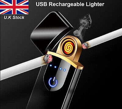USB Electric Lighter Rechargeable Dual Arc Electronic Touch Sensor Lighter