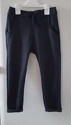 New ZARA Girls Charcoal Grey Pinstripe Trousers Pants__5 Years / EUR 110 cm BNWT