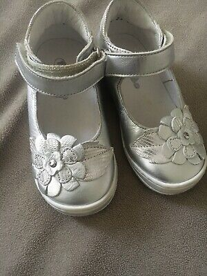 Girls FRODDO Silver Shoes Leather Size 23 UK 5.5-6 Kids