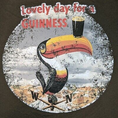 Official Lovely day for a Guinness Draught Stout Toucan Shirt M Beer