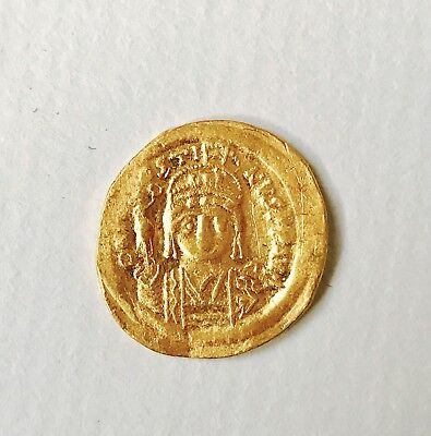 Ancient Byzantine Justin II  Gold Solidus Coin Constantinople 567- 578 SCARCE