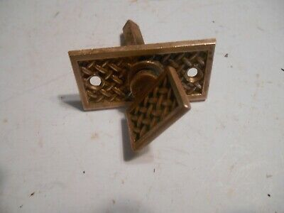 antique eastlake door bell knob handle bronze brass pat 1887
