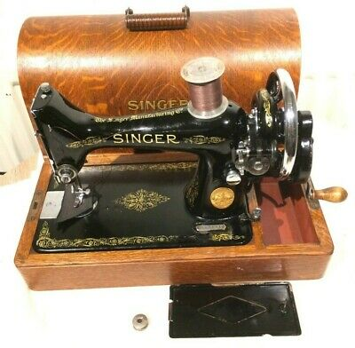 1935 Antique/Vintage Singer 99K Sewing machine SEE SEWN LEATHER SAMPLE