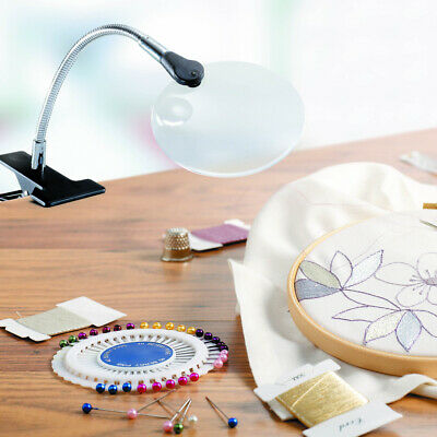 Daylight Flexilens On Mini Clip Crafts Needlework Tabletop Magnifier