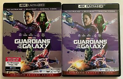 Marvel Guardians Of The Galaxy 4K Ultra Hd Blu Ray 2 Disc + Rare Oop Slipcover