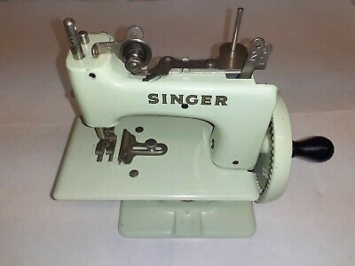 Vintage Singer Toy Hand Crank Child's Sewing Machine -Model 20-10 made from 1954