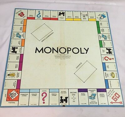 Three Fold Blue Back Standard Edition Monopoly REPLACEMENT BOARD ONLY