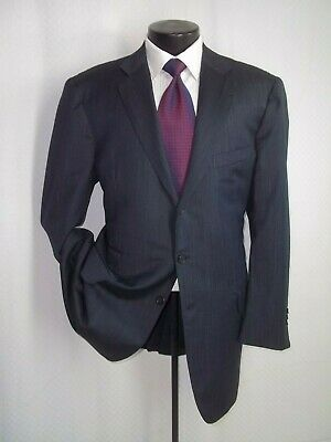 """Luciano Barbera Gray Textured 3 Buttons Wool Suit 46 L~Pants 40""""W x 33""""L"""