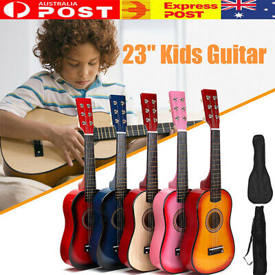2020 New 23'' Kids Acoustic Guitar 6 String Practice Music Instruments Gift AU