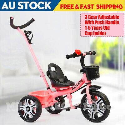 3 Gear 2 In 1 Kids Baby Toddler Tricycle Trike Bike Bicycle 3 Wheel Ride On Toy