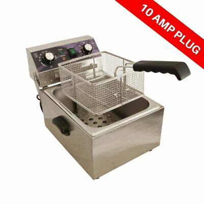 Oz Chef Electric Single Deep Fryer 10L with Timer Commercial