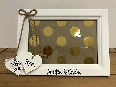 Personalised Auntie Aunty Uncle Photo frame 4 x 6 Wooden Frame Glass Front