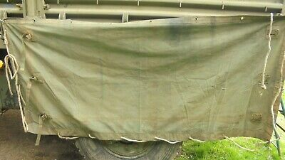 Army Bedford MJ Canvas. Side Cover.military vehicle canvas.