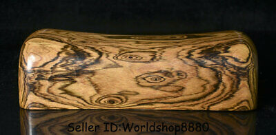 "10.4"" Old China Huanghuali Wood Carved Dynasty Ghost Eyes weeping willow pillow"