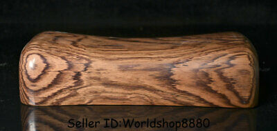 """10.2"""" Old China Huanghuali Wood Carving Dynasty Ghost Eyes weeping willow pillow"""