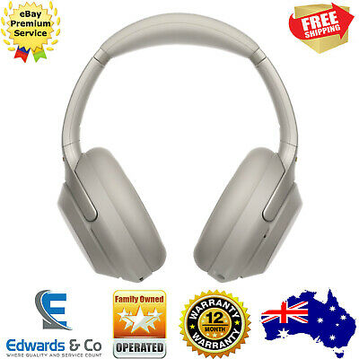 Sony Noise Cancelling Headphones Wireless Bluetooth Over Ears Silver WH1000XM3B