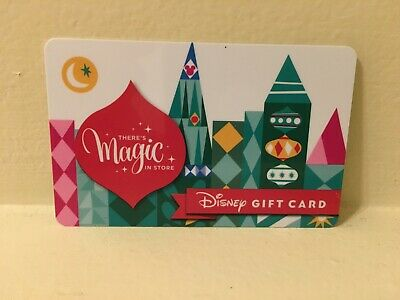 Disney Collectable Gift Card NV Mint There's Magic Christmas Collectible