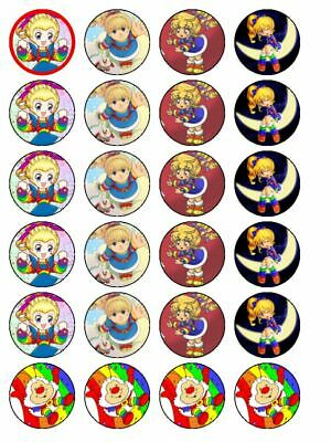 24 X 3.8cms Edible Baby Looney Tunes inspired Cupcake Fairy Cake Muffin Toppers