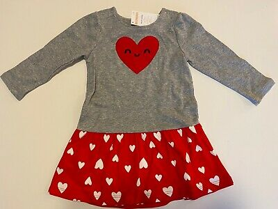 NWT Girls Gymboree SWEETHEART SHOP Heart Dress VALENTINES DAY 18 24 Months