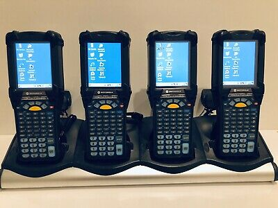 4 x Motorola Symbol MC9190-G Barcode 1D Rugged Scanner Gun MC9100 + Cradle