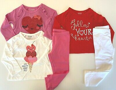 NWT 5 PC LOT Girls Gymboree SWEETHEART SHOP Pants Tops VALENTINES 18 24 Mo 2T