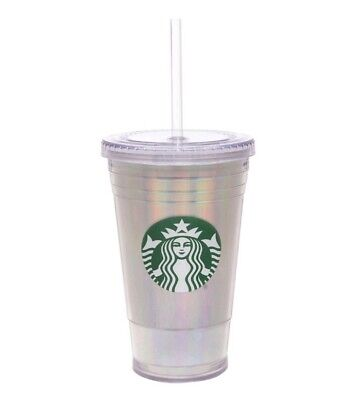 Starbucks Grande Holographic Rainbow Foil Cold Cup 2019