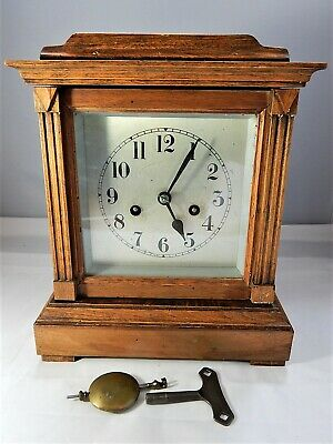 Antique Badische Uhrenfabrik Mantel Clock Germany