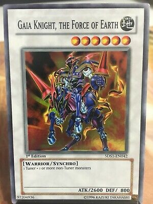 the Force of Earth Super Rare Card 3x Yugioh 5DS1-EN042 Gaia Knight